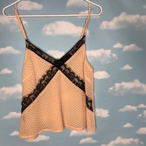 Astr- Pink & Black Tank with Lace size Medium
